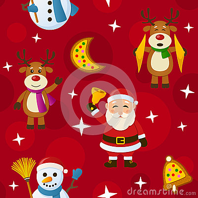 Red Christmas Seamless Pattern
