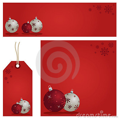 Red christmas set