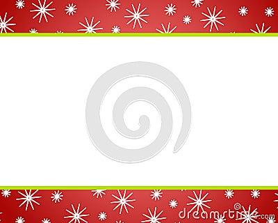 Red Christmas Snow Borders