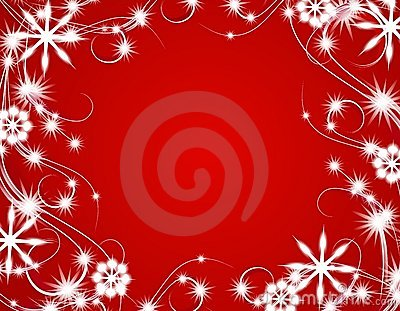 Red Christmas Sparkling Lights Background