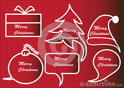 Red Christmas speech bubbles