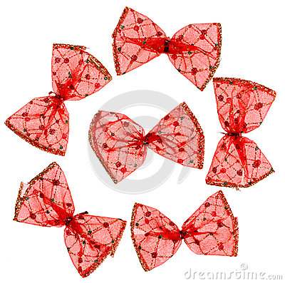 Red Christmas spotted bows
