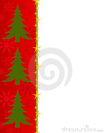 Red Christmas Tree Border
