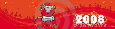 Red christmas vector banner wi