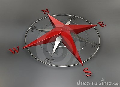 Red chrome Compass