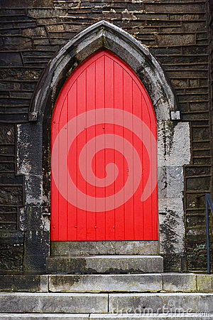 Free Red Church Door Royalty Free Stock Images - 66648329