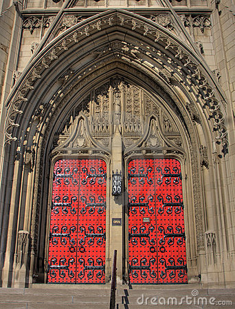 Free Red Church Doors Royalty Free Stock Photo - 14254695