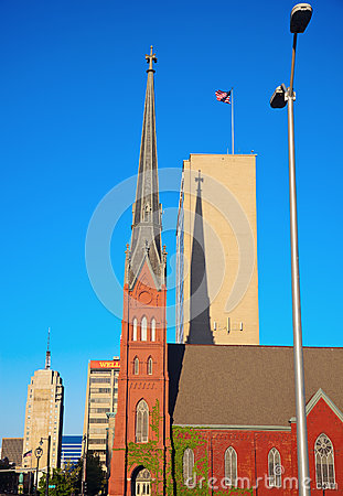 Red Church in downtown Milwaukee