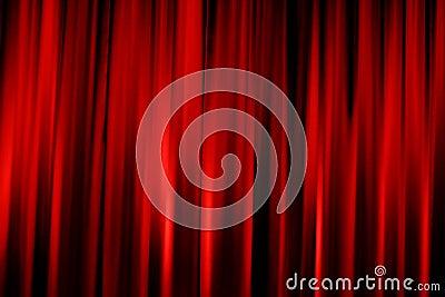 Red cinema valance