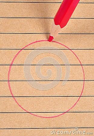 Red circle.