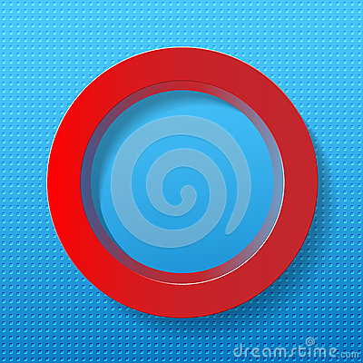 Red circle on blue background