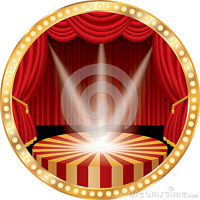 Free Red Circle Stage Spots Stock Photography - 88893152