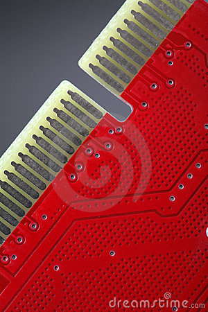 Red Circuit Board Royalty Free Stock Photo - Image: 4899955