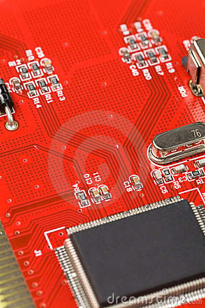 Free Red Circuit Board Stock Photography - 5113382