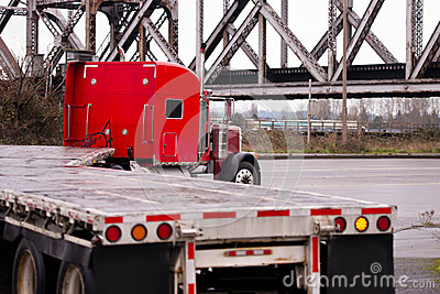 Big Rig Classic Semi Truck Flat Bed Trailers Carry Lumber Stock ...