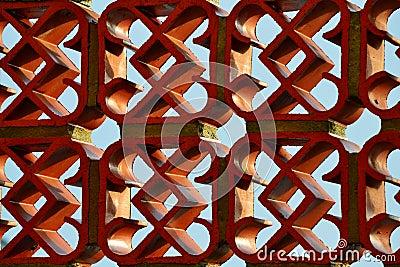 Red clay decorative bricks