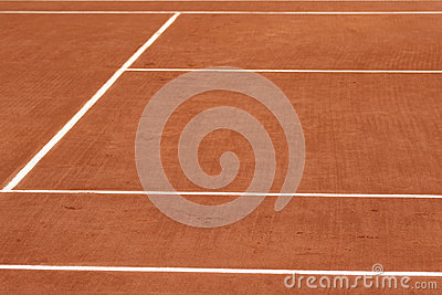 how to make a tennis court clay