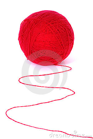 Red clew isolated on a white background