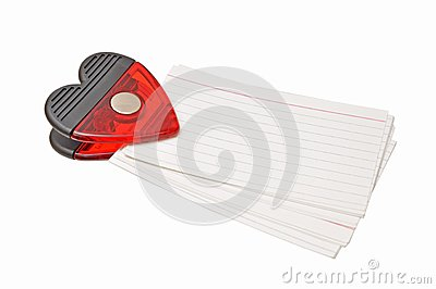 Red clip and paper note