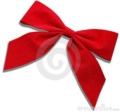 Free Red Cloth Bow Stock Photos - 7387503