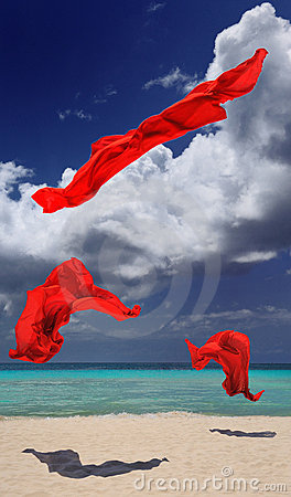 Red cloth dancing