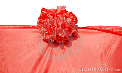 The red cloth and flower