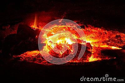 Red coals