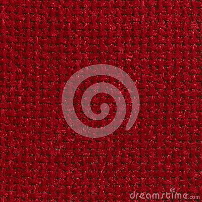 RED COARSE WEAVE FABRIC BACKGROUND