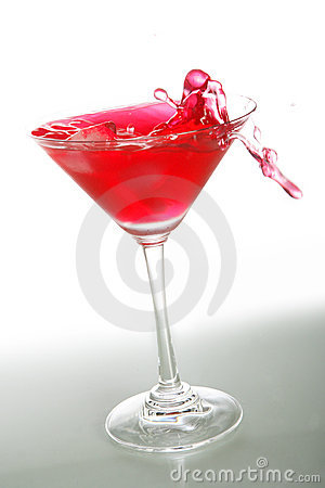 Red cocktail and ice 3