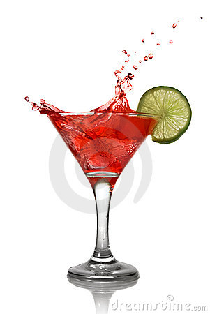 Free Red Cocktail With Splash And Lime Stock Photos - 14313933