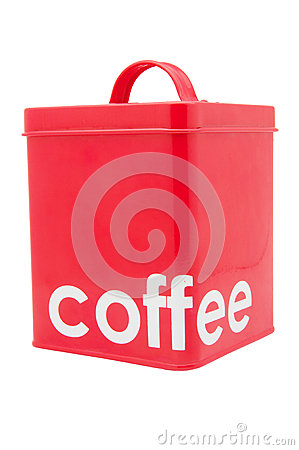 Red Coffee Container