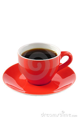 Free Red Coffee Cup Royalty Free Stock Photo - 12226845