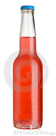 Red cold drink in bottle