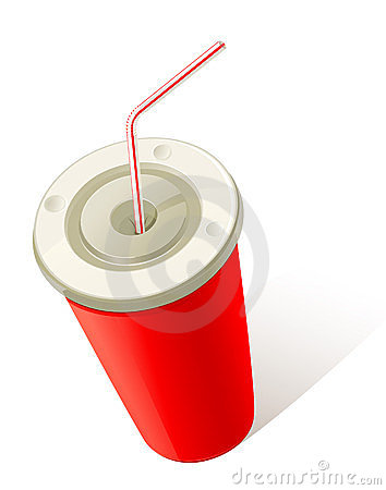 Red Cold Drink Cup