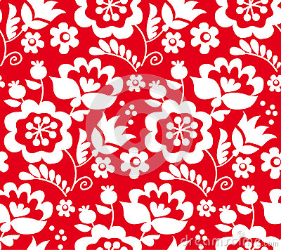 Free Red Color Traditional European Ukrainian Ornament. R Stock Photos - 75348373
