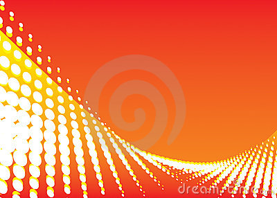 Red color wave background