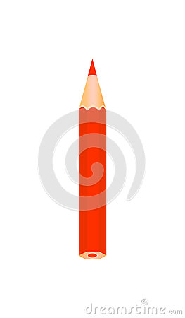 Free Red Color Wooden Pencil. Royalty Free Stock Photo - 97392615