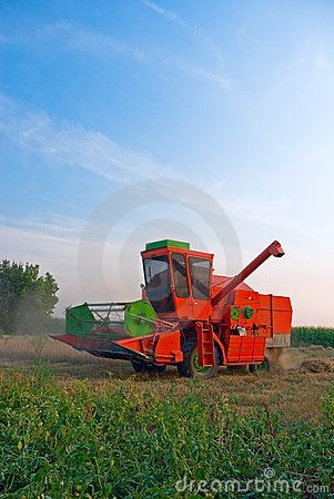 Red combine