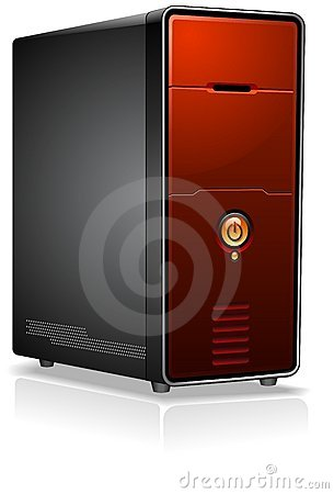 Red Computer Case
