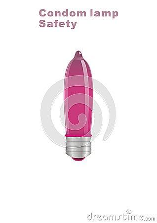 Red Condom lamp