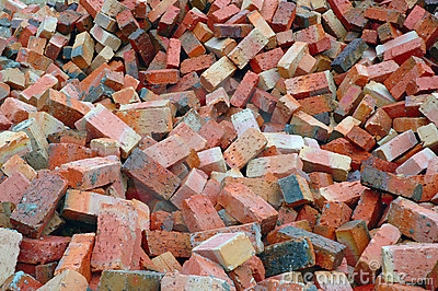 Red Construction Bricks
