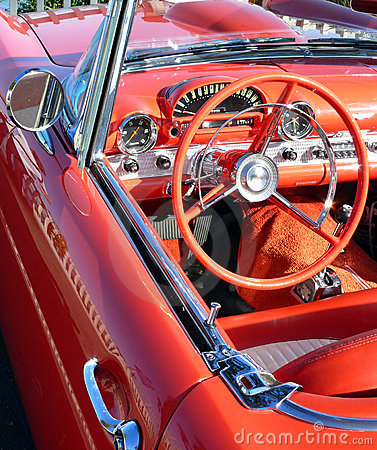 Red Convertible Vintage Car
