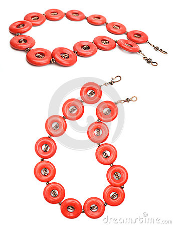Red Coral and Copper Gemstone Jewelry