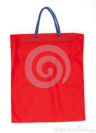 Red cotton bag