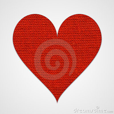 Red cotton heart