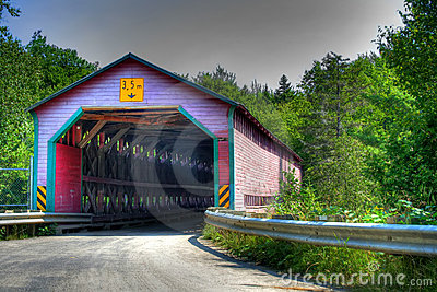 Red Covered bridge HDR
