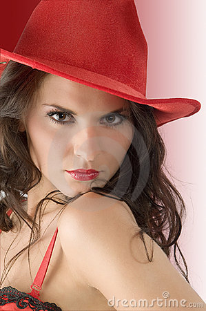 cowgirl makeup. RED COWGIRL HAT (click image