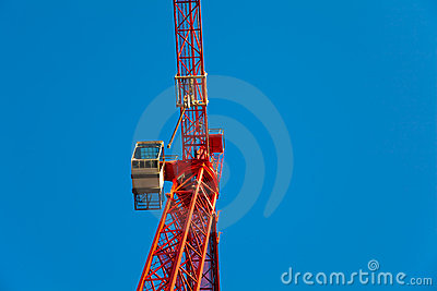 Red Crane with Copyspace