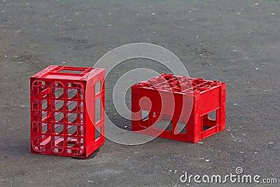 Red crates