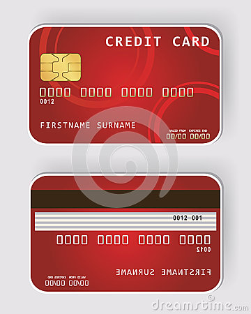 Red credit card Banking concept